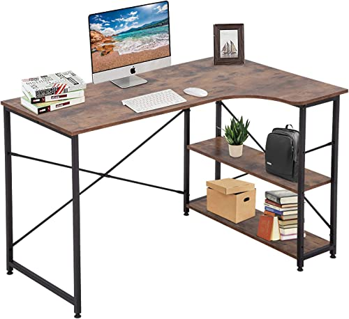 Computer Desk Office Desk Gaming Desk Extra Large 47 x 28.7″ Black Modern Student Girl Kids Study PC Simple Executive Table Workstation