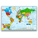 "Kappa World Wall Map Poster, Home/School/Office (Giant Format, 40""x28"")"