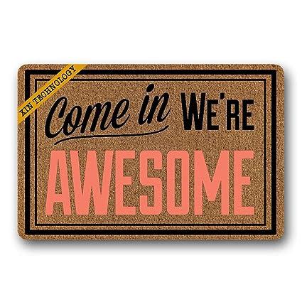 Artsbaba Funny Doormat Come In We\u0027re Awesome Door Mat Rug Indoor Washable Floor Mat  sc 1 st  Amazon.com & Amazon.com: Artsbaba Funny Doormat Come In We\u0027re Awesome Door Mat ...