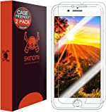Skinomi Screen Protector Compatible with iPhone 8 Plus (2-Pack)(Case Friendly) Clear