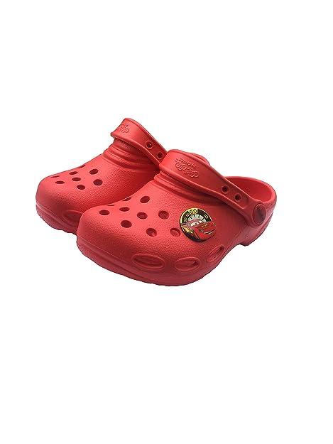 new styles b99da 895c0 Jibbitz by Crocs Cars Clog Kinder Rot C10: Amazon.de: Schuhe ...