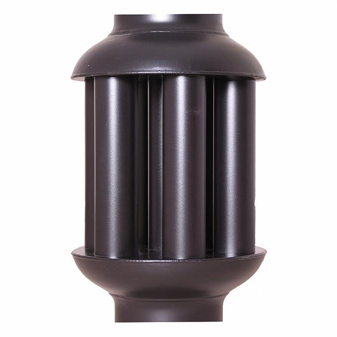 acerto 30107 Intercambiador de aire caliente 150 mm/ 650 mm Enfriador de gas de combustión negro Conducto de humos Cambiador de calor de gases de escape: ...