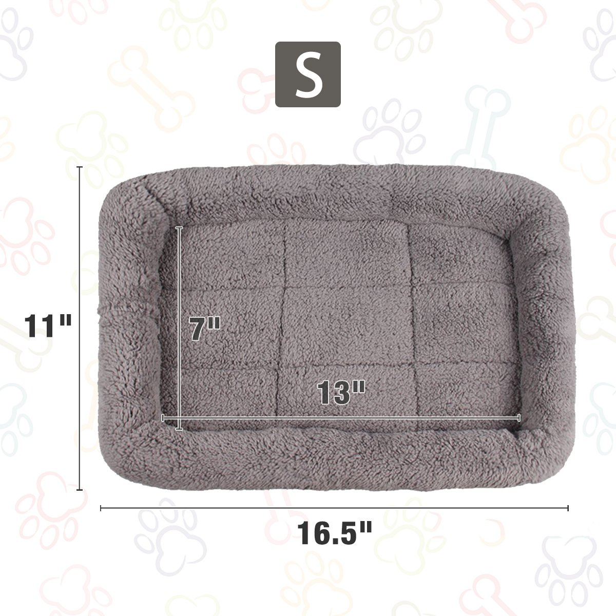 LESYPET Small Dog Crate Cotton Washable Mat Small by LESYPET (Image #3)