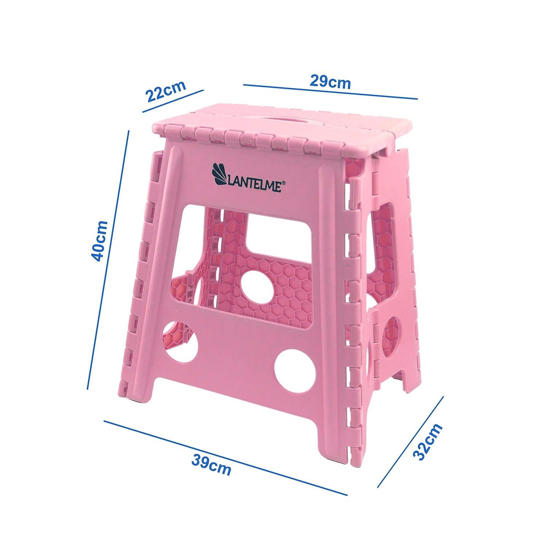 Lantelme 7675 Sgabello Pieghevole per la casa Portatile salvaspazio Il Giardino o Il Campeggio Colore: Rosa