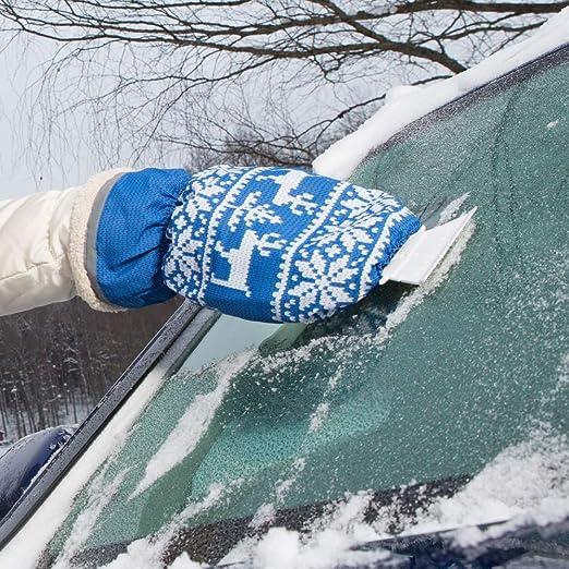 Eiskratzer mit Handschuh Kungs ARCTIC-IS f/ür Auto Schwarz Wasserdicht und extra warm