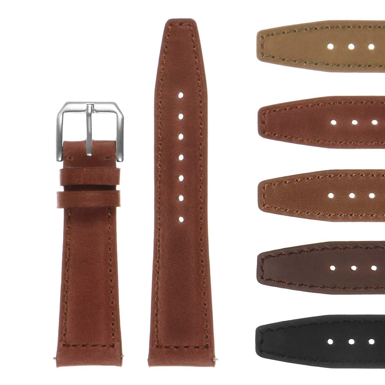 DASSARIクラシックヴィンテージレザーポルトガル語Watch Band – クイックリリースストラップ – 20 mm 21 mm 22 mm 20mm さび色 20mm|さび色 さび色 20mm B076PKM89R