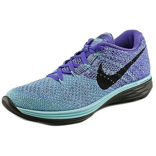 best service 3c506 6855d Nike Flyknit Lunar 3 Women US 5 Blue Running Shoe: Buy ...
