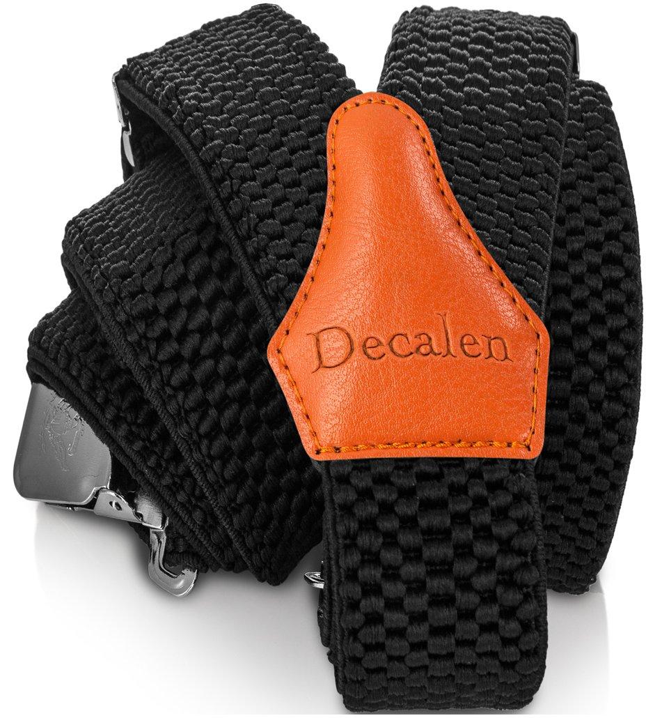 Decalen Bretelles Homme Larges Réglable Élastique Extra Fort 3 Clips en  forme Y 9fe65bda71c
