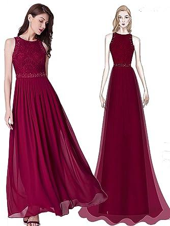 Ever Pretty Womens Floor Length A Line Sleeveless Long Evening Dresses Burgandy 8UK