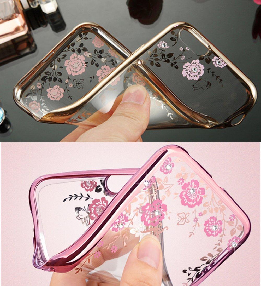 Rose Gold,Rosa A320 ZCRO Handyh/ülle f/ür Samsung Galaxy A3 2017 Silikonh/ülle H/ülle Silikon Transparent Schutzh/ülle Case Glitzer Bling Glitter Diamant D/ünn Cover f/ür Samsung Galaxy A3 2017//A320