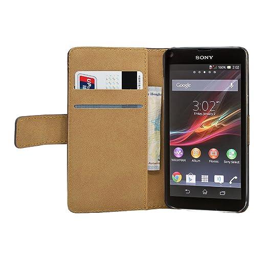 34 opinioni per Nera Portafoglio Custodia per Sony Xperia L (S36H / C2104 / C2105)- Flip Case