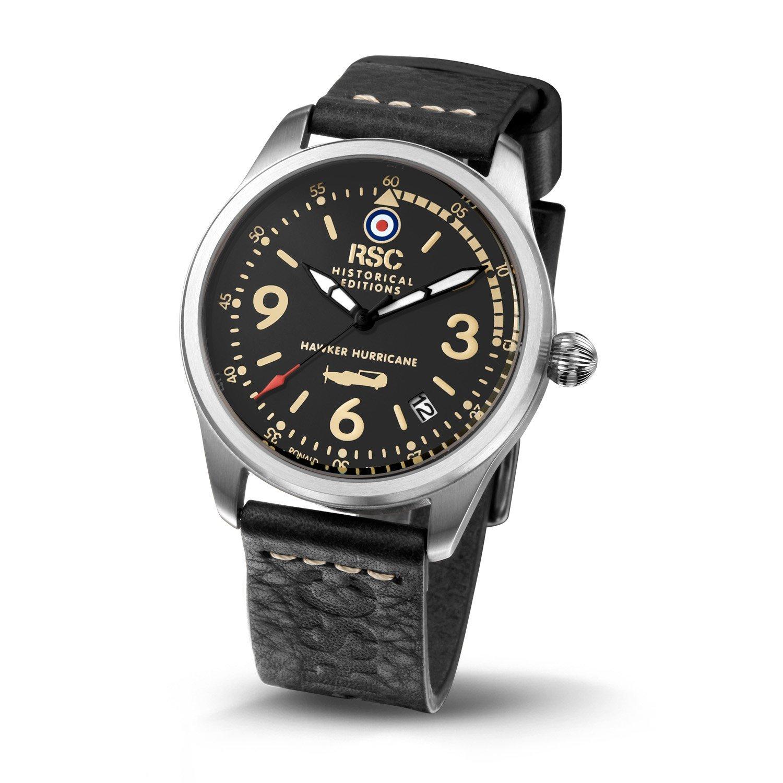 RSC Relojes de piloto Hawker Hurricane reloj hombre cuarzo reloj Aviación: ronald steffen: Amazon.es: Relojes