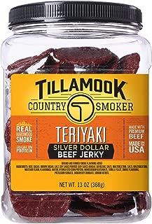 product image for Tillamook Country Smoker All Natural, Real Hardwood Smoked Teriyaki Silver Dollar Jerky, 13 oz Jar