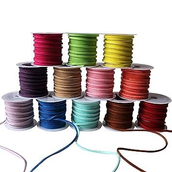 42cd00451695 Cuerda de Cuero (12 piezas) - Cordón de Ante Falso para Pulsera ...