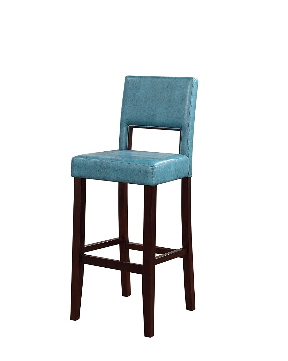 Amazon.com: Linon Vega Bar Stool, Aegean Blue: Kitchen & Dining