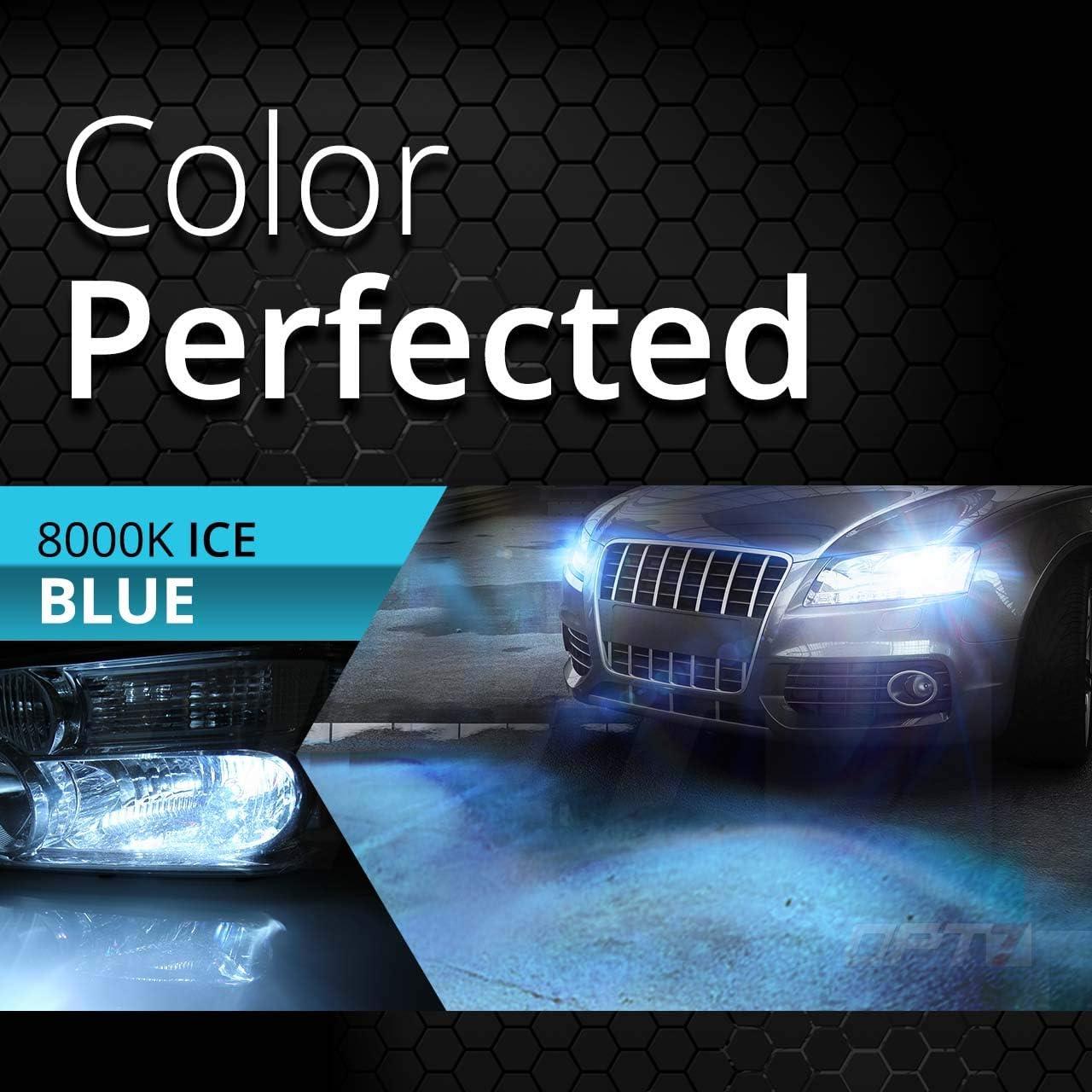 2 Yr Warranty All Bulb Sizes and Colors 4X Longer Life 3X Brighter 8000K Ice Blue Light OPT7 BLTZ 55W 9007 Bi-Xenon HID Kit