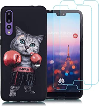 jrester Funda Huawei P20 Pro,Gato de Boxeo Suavee Silicona ...