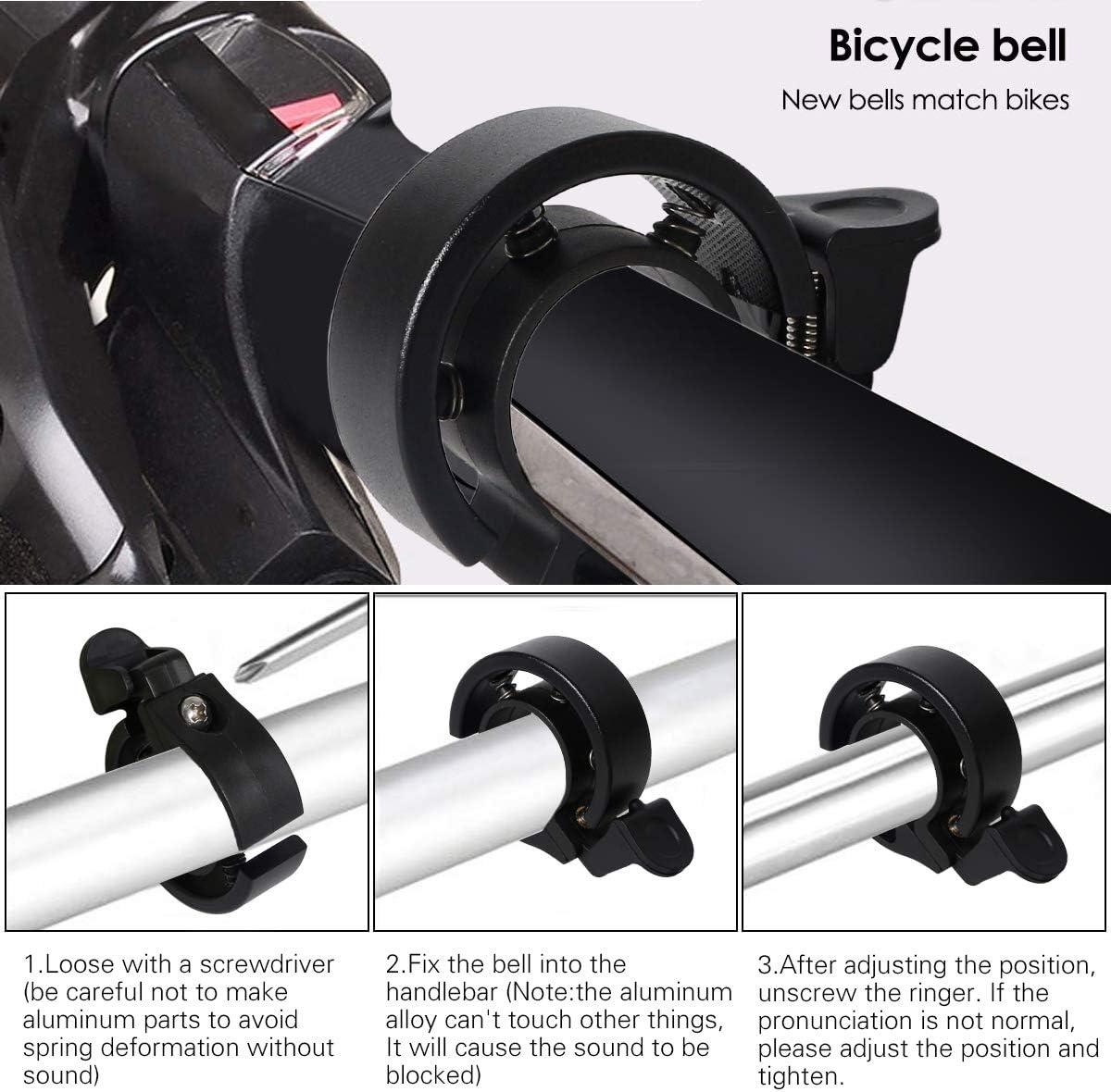 Cevikno 2 Pack Mini Fahrradklingel Fahrradlenkring Klingel Sicherheitswarnung Fahrrad Glocke laut und hell