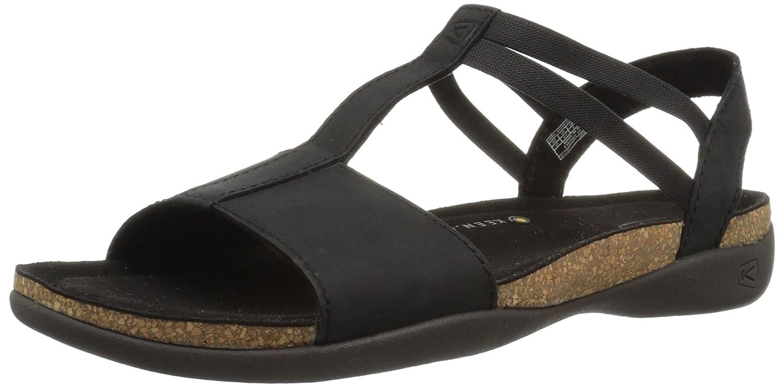 KEEN Women's Ana Cortez T Strap-W Flat Sandal B071CL36FG 5.5 B(M) US|Black/Black