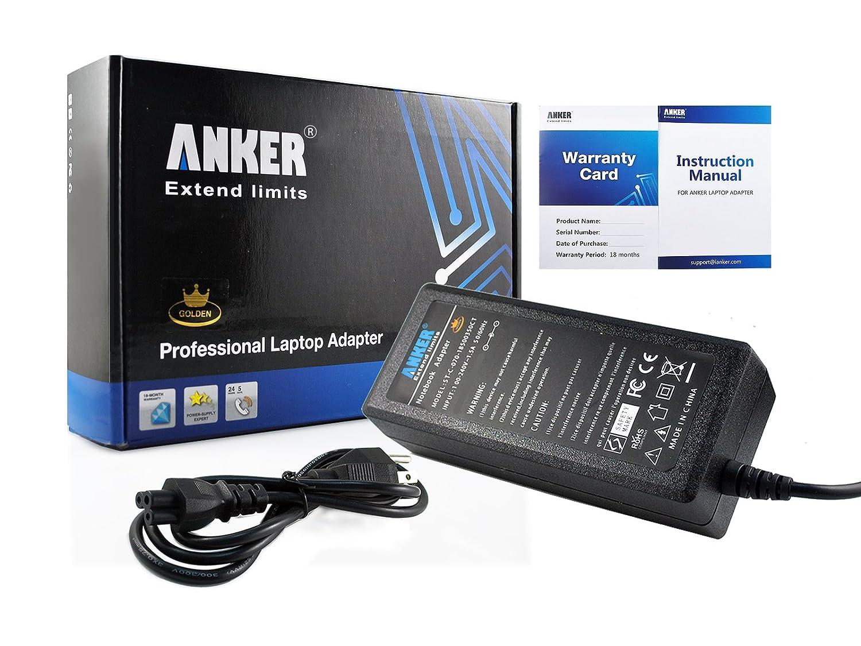 Anker® Golden AC Adapter + Power Supply Cord for Laptop Acer Aspire 1200  1300 1360 1650, Ferrari 3000 3200 5000, Travelmate 800 2000, Extensa 450  510 2300; ...