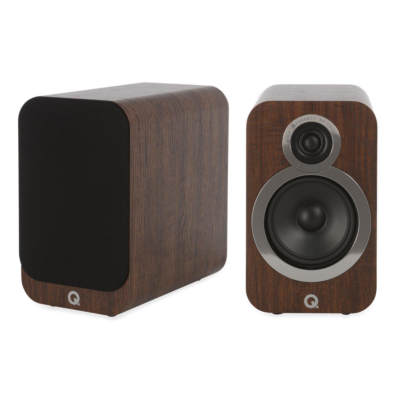 (English Walnut) - Q Acoustics 3020i Bookshelf Speakers (Pair) (English Walnut) B07C51X1RF