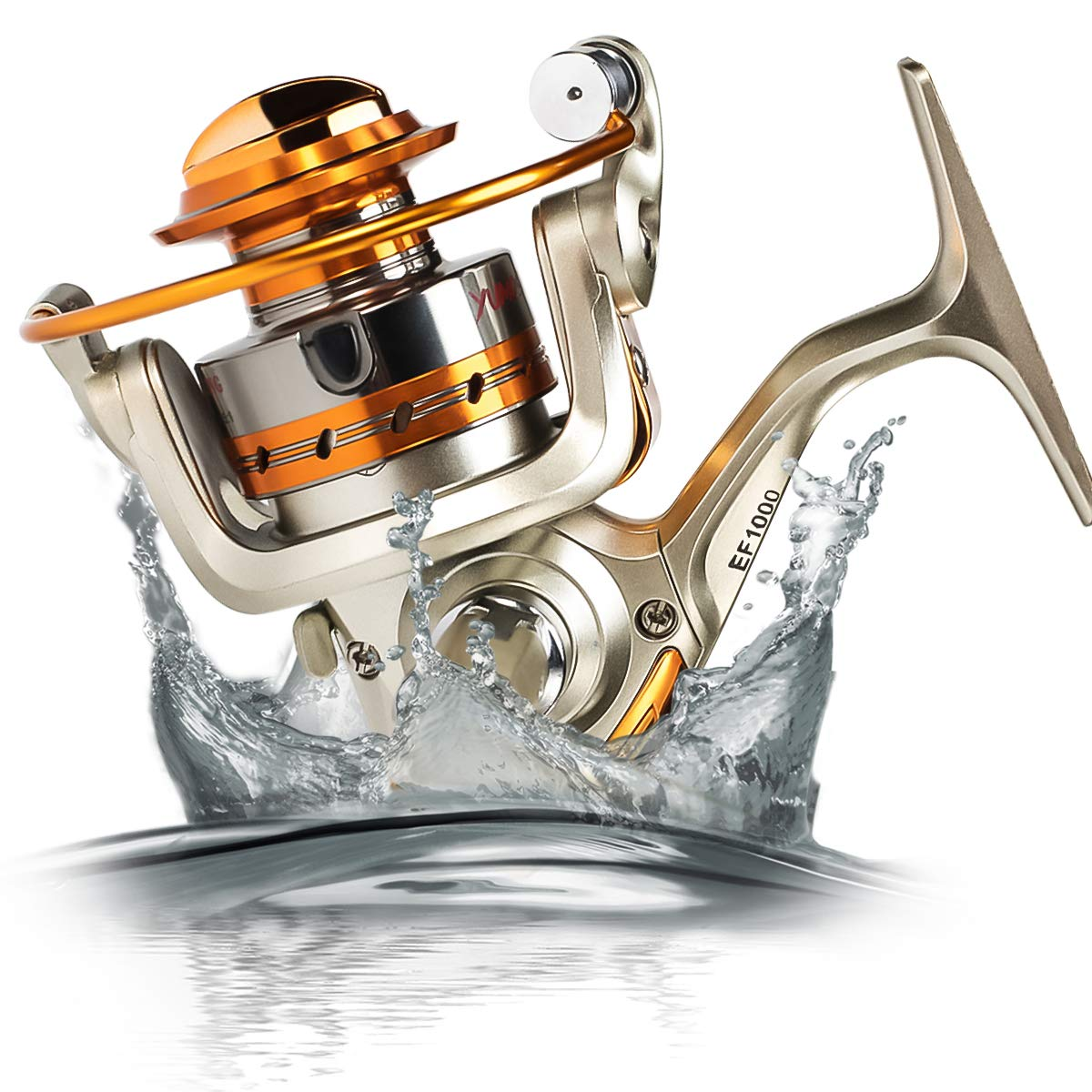 Amorly Rapid Spinning Fishing Reel with Left Right Interchangeable Wood Handle,12 Ball Bearings Spinning Reels for Freshwater Saltwater