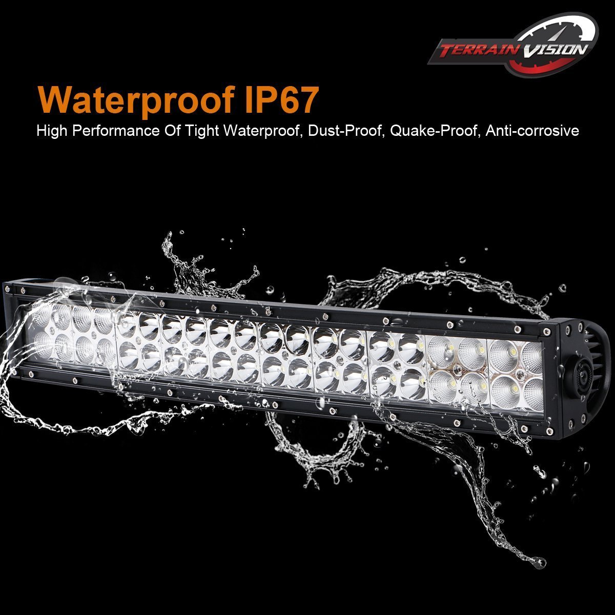 Terrain Vision Curved 24 22 Inch Led Light Bar 120w Toyota Echo Fuse Box Key For Bumper Grill Guard 4 18w Cube Pods Off Road Driving Lamps Remote Switch Wiring