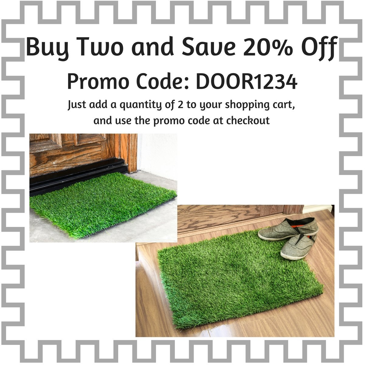 Floor mats promo code - Amazon Com Artificial Grass Doormat 24x18 Inches Welcome Mat For Entrance Way Outdoors And Indoors Patio Lawn Garden