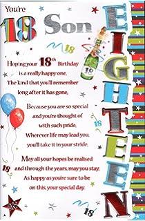 Stunning top range beautifully worded son eighteen 18th birthday 18th birthday son card youre 18 son m4hsunfo