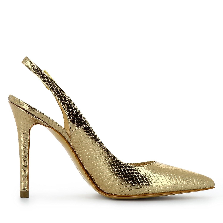 Evita Shoes Alina Damen Sling Pumps Pythonprägung Gold 39 EFO1TS