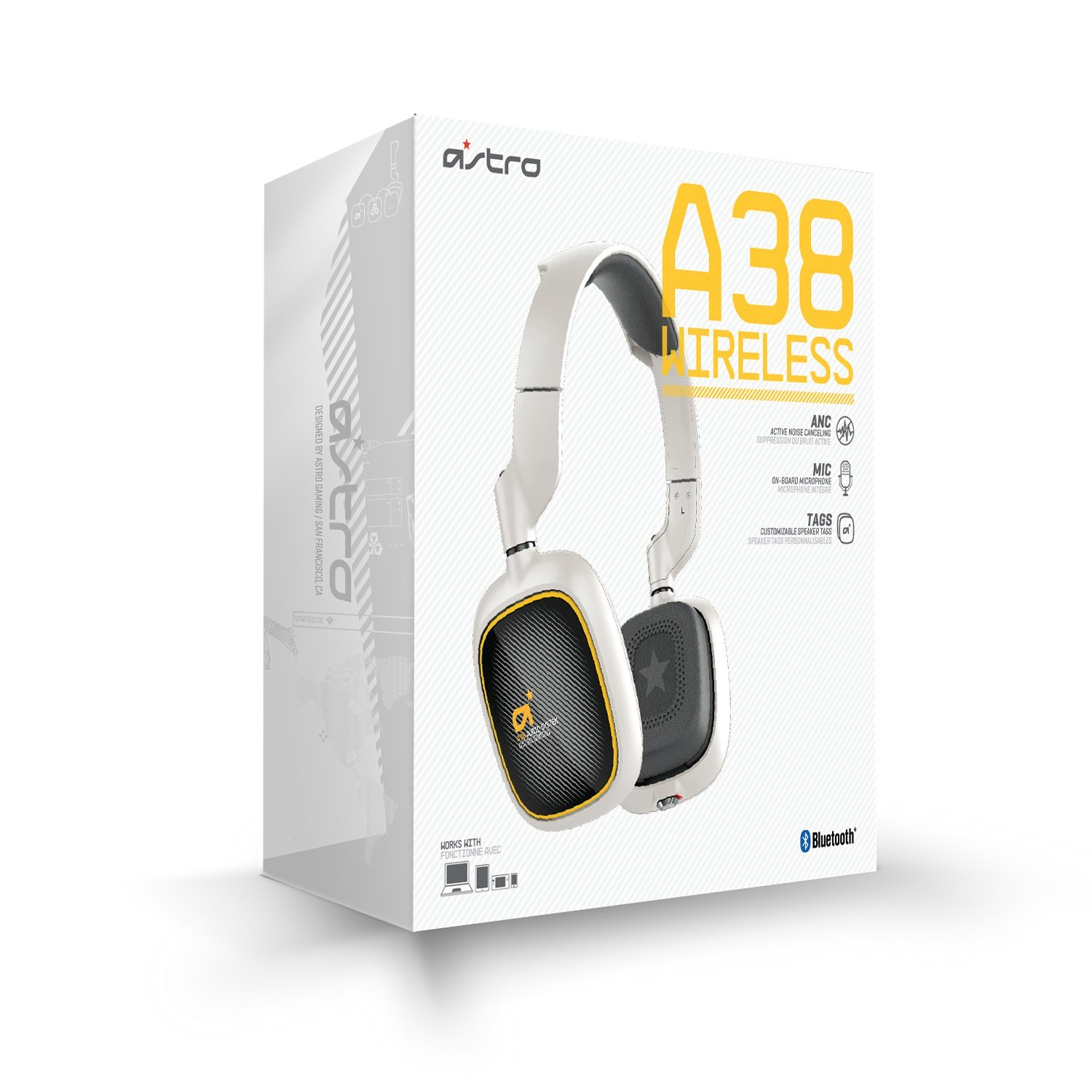 ASTRO Gaming A38 Wireless Headset, White by ASTRO Gaming