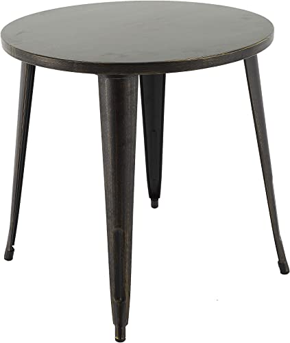 Brage Living Tables 29.7 Round Black Gold