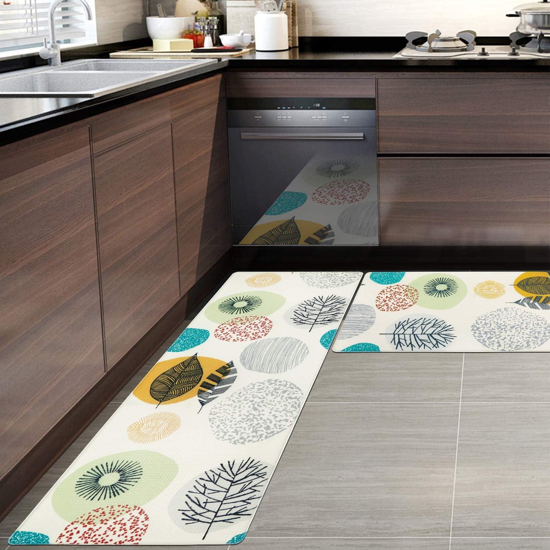 Pauwer Anti Fatigue Kitchen Floor Mat Set of 9 Non Slip Waterproof ...