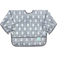 Bumkins Sleeved Baby Toddler Bib Waterproof, Washable, Stain and Odor Resistant, 6 to 24 Mths+, Arrow
