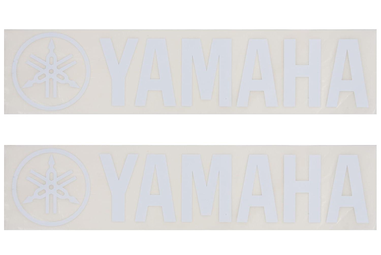Yamaha BD LOGO LG WH Yamaha Logo 1-Inch - White - 2 Pack Yamaha PAC