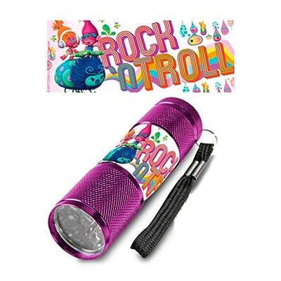 licence Trolls LED Super Bright White Light Childs enfants lampe torche lampe de poche, violet