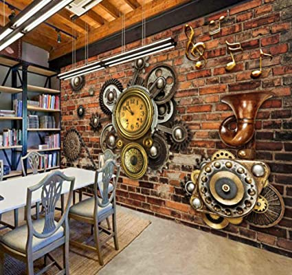 Mural Photo Wallpaper 3d Red Brick Wall Painting European