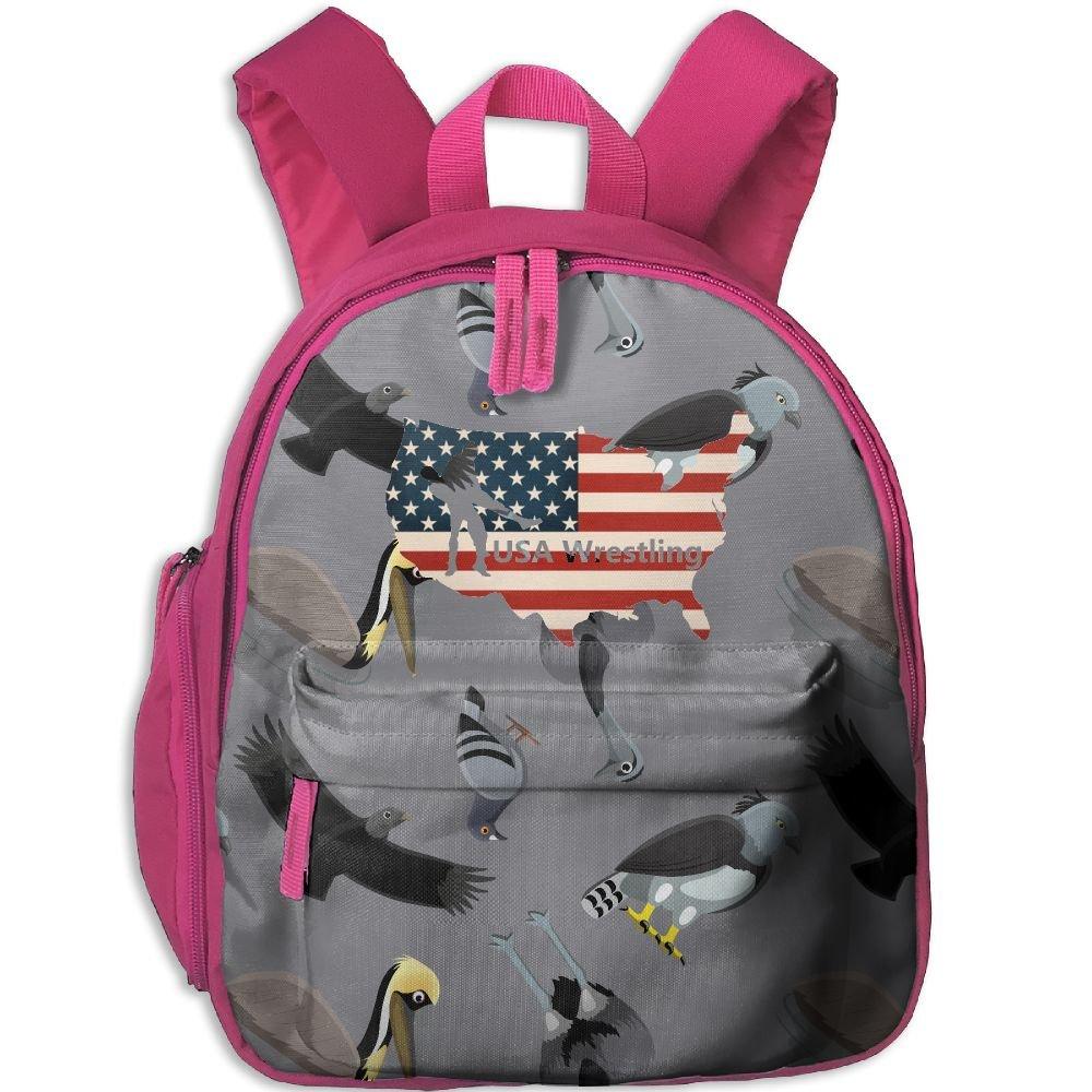 USA Wrestling Toddlers Fashion Backpack School Bag by VCV BAG