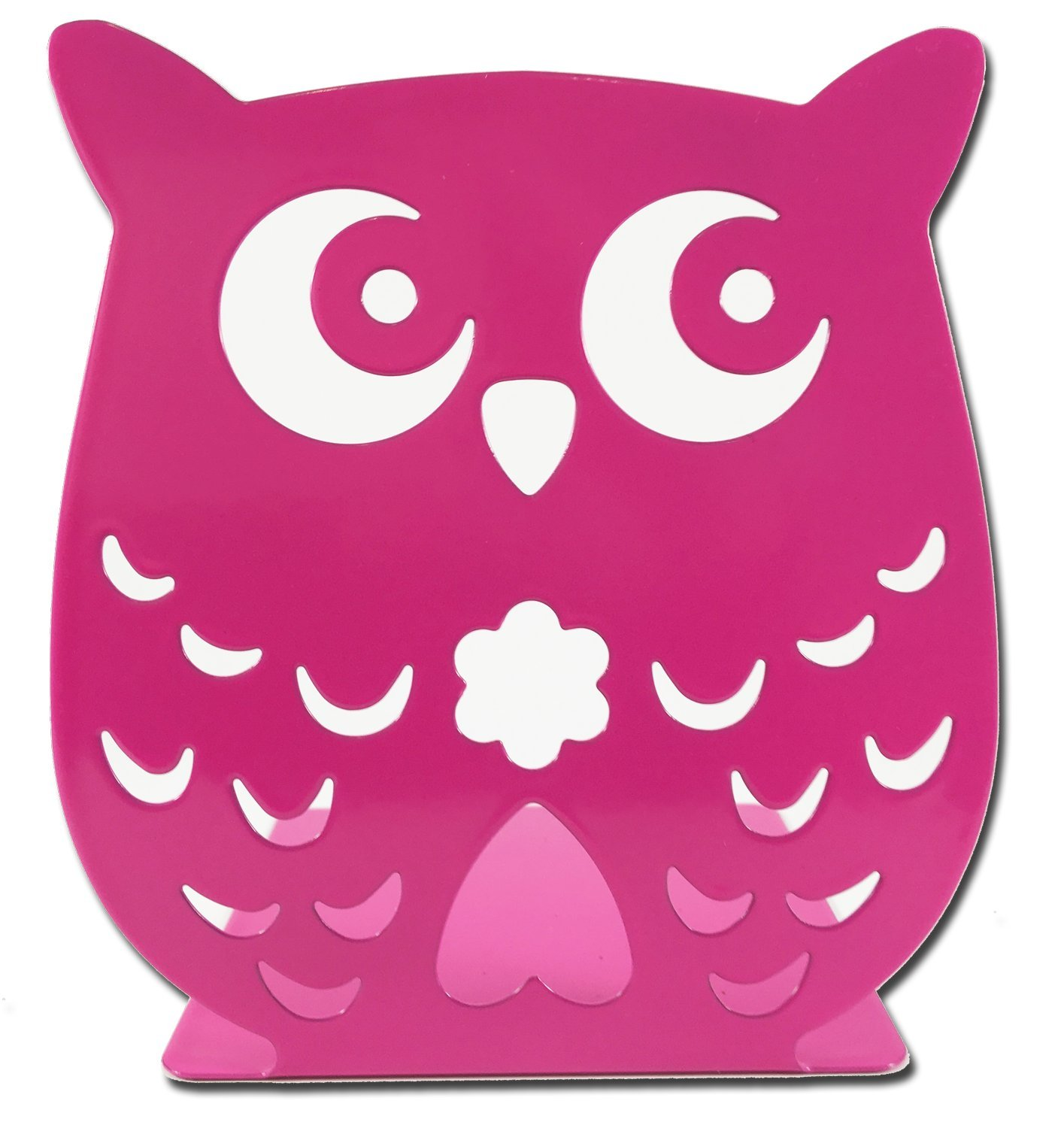 Owl Wonderland Bookends - Cute Lightweight Baby Owls - Great Decor for Little Ones Nursery, Childrens Bedroom, Kids Playroom or Fun Owllover Gift for Office (Pink)