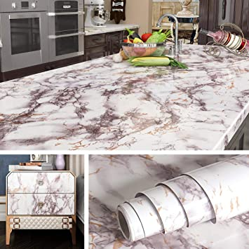 Marble Self Adhesive Wallpaper Removable Vinyl Renovate Waterproof Contact Paper
