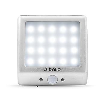 Albrillo Iluminación de armario Inalámbrico Luz nocturna 20LED con 1200 mAh recargables pilas y sensor de