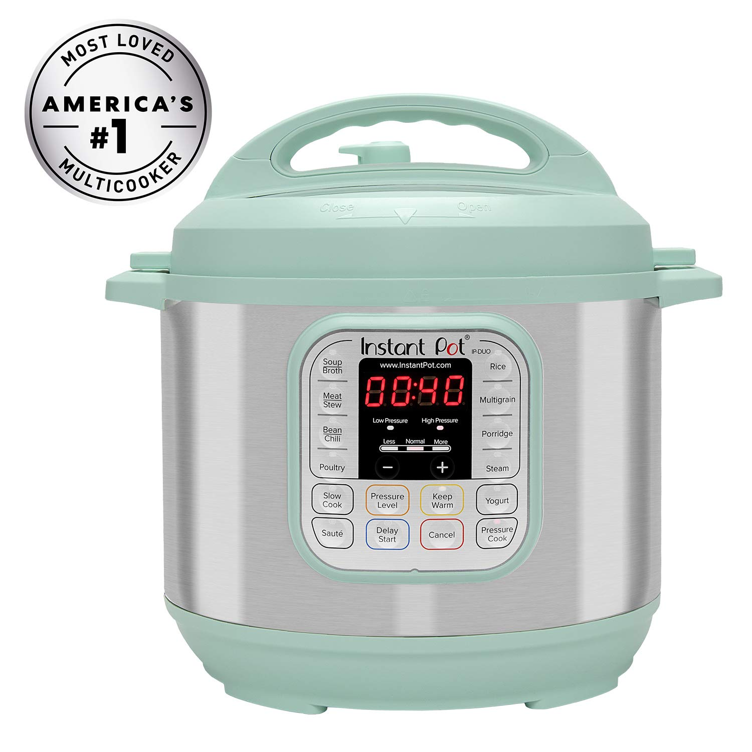 Instant Pot Duo 60 TEAL 6 Qt 7-in-1 Multi-Use Programmable Pressure, Slow, Rice Cooker, Steamer, Sauté, Yogurt Maker and Warmer, Stainless Steel