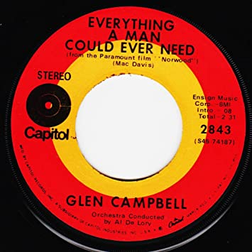 Glen Campbell - Glen Campbell 45 RPM Norwood (Me and My Guitar ...