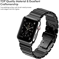 Oittm Watch Band for Apple Watch Series with Double Button Folding Clasp (Multi Colors)