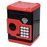 Amazon Price History for:Code Electronic Piggy Banks Mini ATM Electronic Save Money Coin Bank Coin Box For Kids With Electronic Lock & Secret Code To Unlock with Password Great Gift Toy for Children Kids(Black & Red)