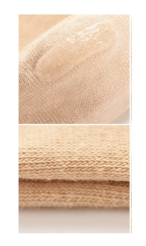 5 Pairs Women Five Socks NO Show Cotton Liner socks Microfiber Ultra Low Cut Liner with Gel Tab Byinwin Toe Socks