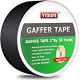 Premium Grade Gaffers Tape, 2 Inch X 30 Yards, Black Heavy Duty Non-Reflective Matte No Residue Gaff Main Stage Tape…
