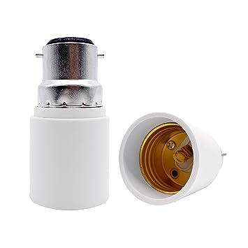 VARICART Base Transformador de L/ámpara E14 a E27 Adaptador de Casquillo de Bombilla Pack de 2 M/áxima Potencia de Vatios 500W Enchufe Resistente al Calor No Inflamable Hasta 220 Grados