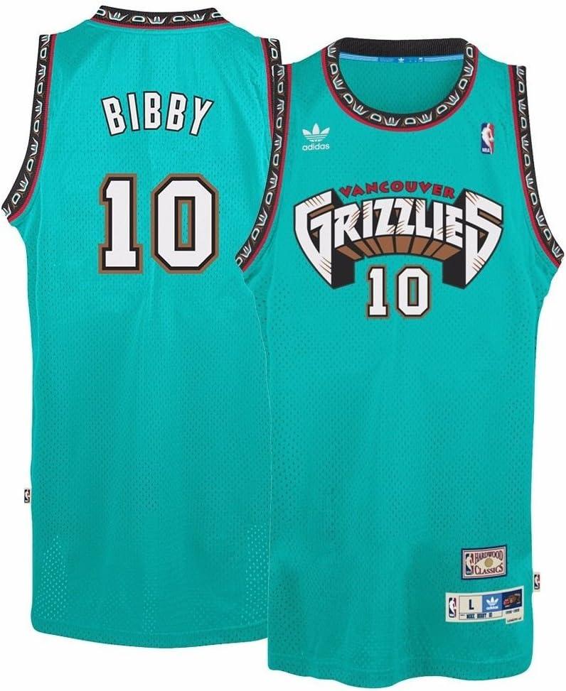 Mike Bibby #10 Hardwood Throwbacks Vancouver Grizzlies Teal Swingman Jersey