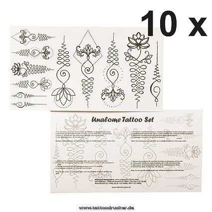 Amazon 10 X 11 Piece Unalome Tattoo Set 110 Buddhist Symbols